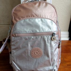 Kipling Seoul Small Backpack Rose Gold Combo